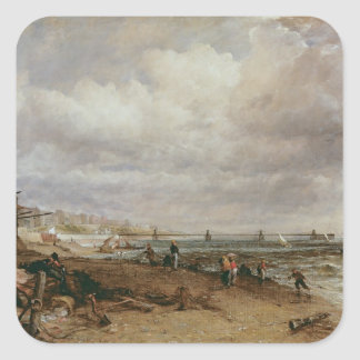 Marine Parade and Old Chain Pier, 1827 Square Sticker