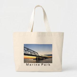 Marine Parkway Bridge-Gil Hodges Large Tote Bag