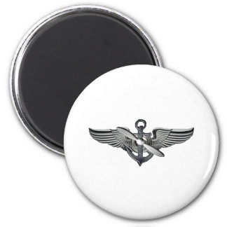 marine pilot wings 2 inch round magnet