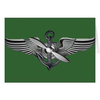 marine pilot wings card
