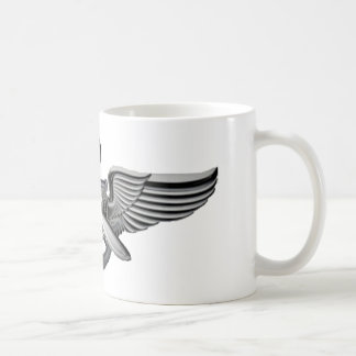 marine pilot wings classic white coffee mug