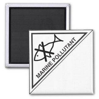 Marine pollutant 2 inch square magnet