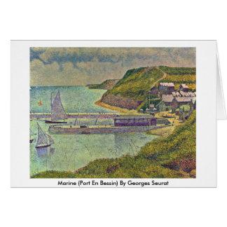 Marine (Port En Bessin) By Georges Seurat Greeting Card