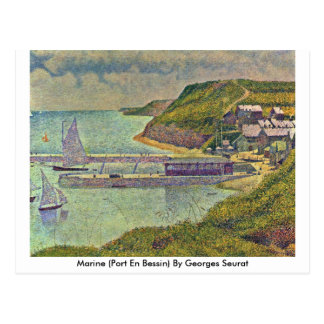 Marine (Port En Bessin) By Georges Seurat Postcard