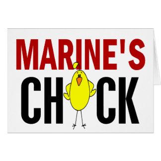 MARINE'S CHICK CARD