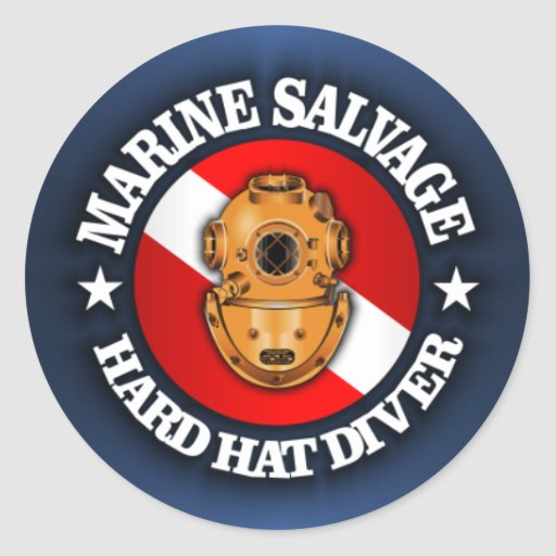 Marine Salvage Round Stickers