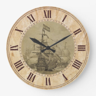 Marine Scene Large Clock