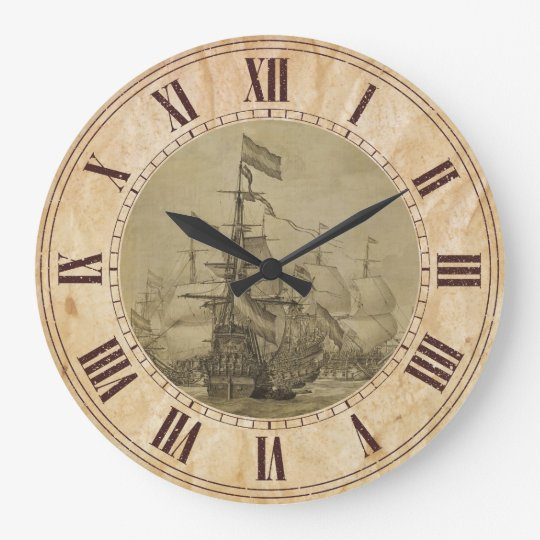 Marine Scene Large Clock