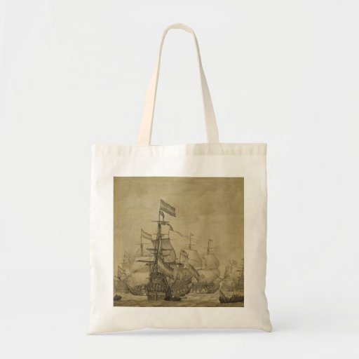 Marine Scene Tote Bags