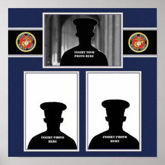 Marine Scrapbook Photo Collage Poster
