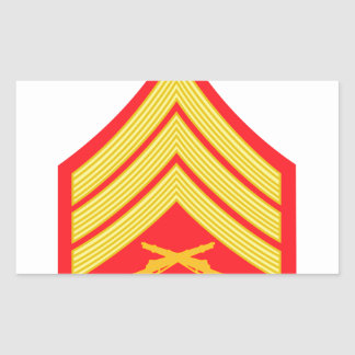 Marine Sergeant Rectangular Sticker