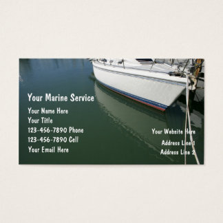 Marine Service Business Cards