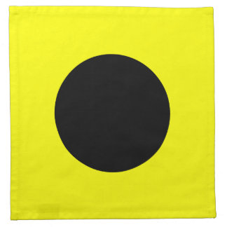 "Marine Sign Code Flag Letter I ""India"" Napkin"
