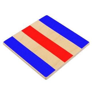 Marine Sign Flag Alphabet Letter C Charlie Symbol Wooden Coaster