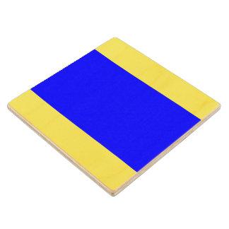 Marine Sign Flag Alphabet Letter D Delta Symbol Wood Coaster