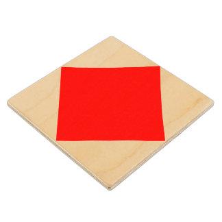 Marine Sign Flag Alphabet Letter F Foxtrot Symbol Wood Coaster