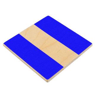 Marine Sign Flag Alphabet Letter J Juliett Symbol Wooden Coaster