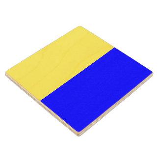 Marine Sign Flag Alphabet Letter K Kilo Symbol Wooden Coaster