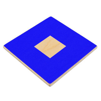 Marine Sign Flag Alphabet Letter P Papa Symbol Wooden Coaster