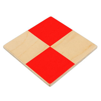 Marine Sign Flag Alphabet Letter U Uniform Symbol Wooden Coaster