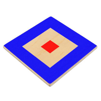 Marine Sign Flag Alphabet Letter W Whiskey Symbol Wooden Coaster