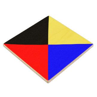 Marine Sign Flag Alphabet Letter Z Zulu Symbol Wooden Coaster