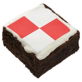 "Marine Signal Flag Letter U ""Uniform"" Chocolate Brownie"