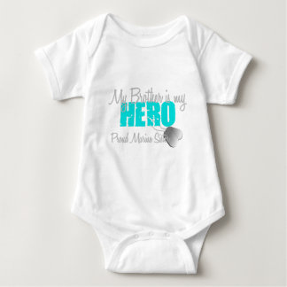 Marine Sister - Brother is my Hero Baby Bodysuit