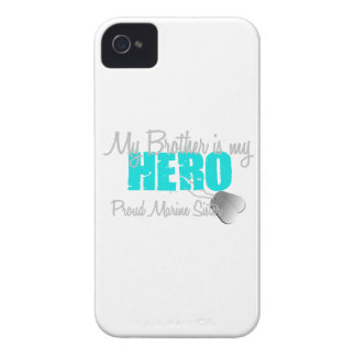 Marine Sister - Brother is my Hero iPhone 4 Cover