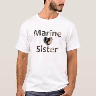 Marine Sister Heart Camo T-Shirt
