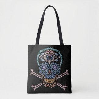 Marine Skull and Crossbones Tote Bag