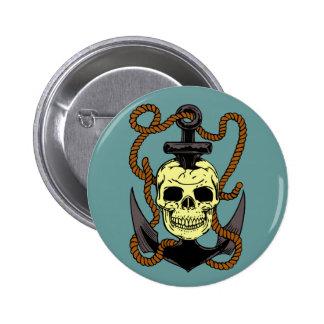 Marine Skull Tattoo Pins