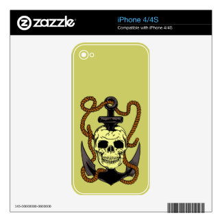 Marine Skull Tattoo Decals For iPhone 4