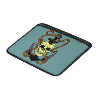 Marine Skull Tattoo MacBook Sleeves