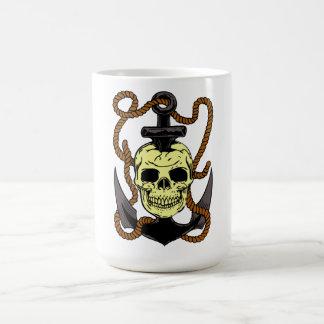 Marine Skull Tattoo Classic White Coffee Mug