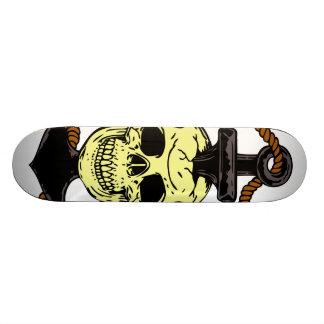 Marine Skull Tattoo Skateboard Deck