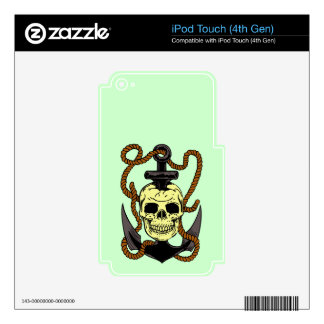 Marine Skull Tattoo iPod Touch 4G Decal