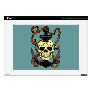 Marine Skull Tattoo Laptop Decals