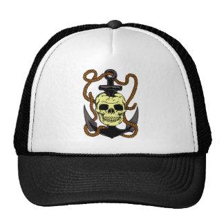 Marine Skull Tattoo Trucker Hat