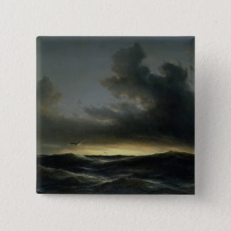 Marine Solitude, 1852 Pinback Button