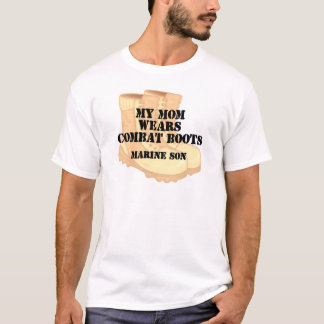 Marine Son Mom Desert Combat Boots T-Shirt