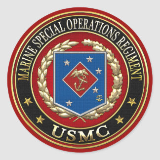 Marine Special Operations Regiment (MSOR) [3D] Classic Round Sticker