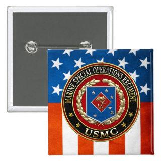 Marine Special Operations Regiment (MSOR) [3D] Pinback Button