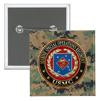Marine Special Operations Regiment (MSOR) [3D] Pinback Button