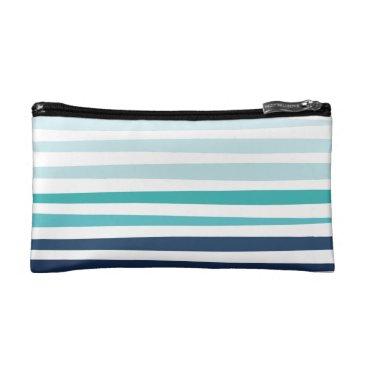 Marine Stripe Pouch Makeup Bag