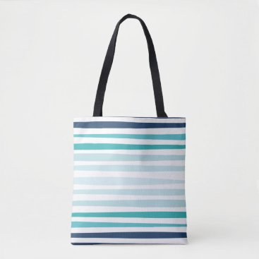 Beach Themed Marine Stripe Tote