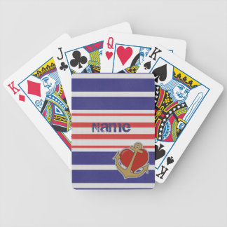 Marine Stripes Playing Cards