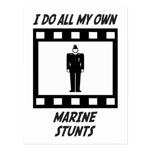 Marine Stunts Postcard