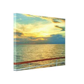 Marine Sunrise Canvas Print