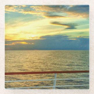 Marine Sunrise Glass Coaster